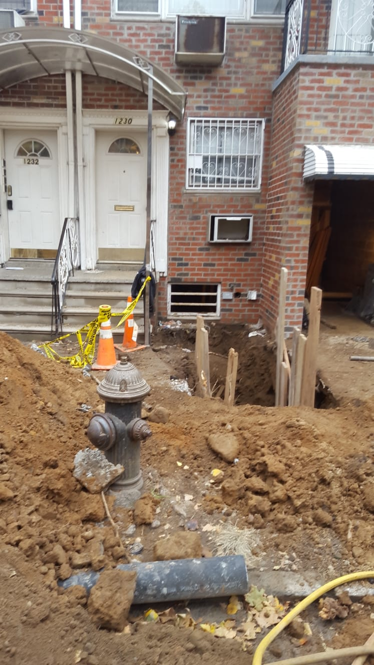 pullini subsurface water main and sewers